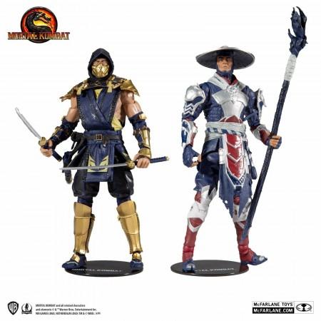 McFarlane Mortal Kombat Scorpion Vs Raiden 2 Pack