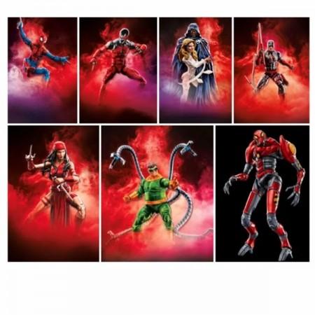 Marvel Legends Spider-Man Wave 2 Set of 7 Mech Spidey BAF