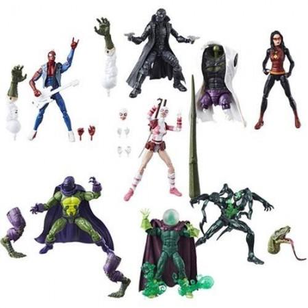 Marvel Legends Lizard Build A Figure Set of 7