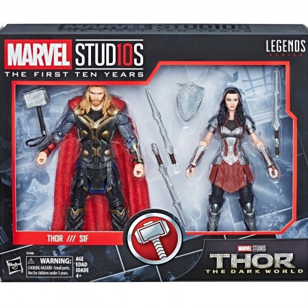 Marvel Legends Cinematic Universe Thor & Lady Sif 2 Pack