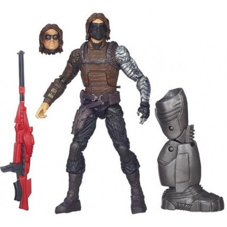 Marvel Legends Captain America The Winter Soldier - Winter Soldier figure comes with Mandroid part, additional head and hands. Stands approx 6 inches tall. Ages 5 and up.
