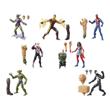 Marvel Legends Spiderman Sandman construir un sistema de la figura de 7