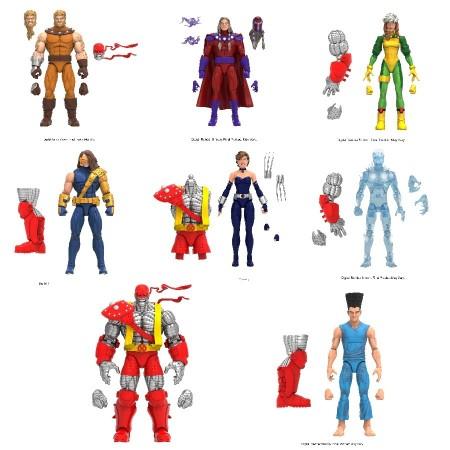 Marvel Legends X-Men Age of Apocalypse Wave 2 Colossus BAF Set of 7