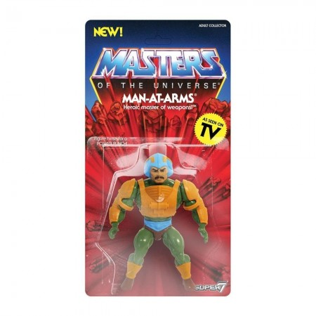 Super 7 amos del universo Man-At-Arms Vintage acción figura
