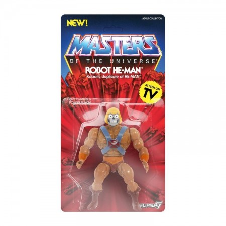 Super 7 Masters Of The Universe Robot He-Man Vintage Action Figure
