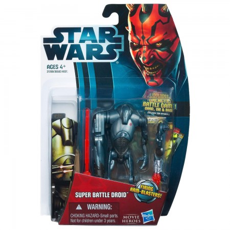 Star Wars Movie Heroes Super Battle Droid 3.75 Inch Action Figure