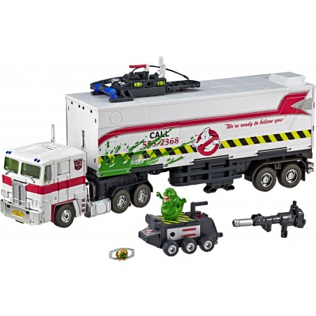 Transformers X Ghostbusters MP10G Masterpiece SDCC Optimus Prime & Slimer ECTO 35