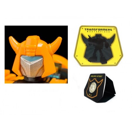 Transformers MP-21 Masterpiece Bumblebee Battle Mask & Coin Set