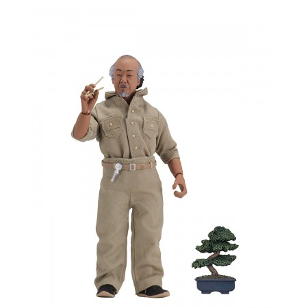 NECA The Karate Kid (1984) Mr Miyagi Clothed Action Figure