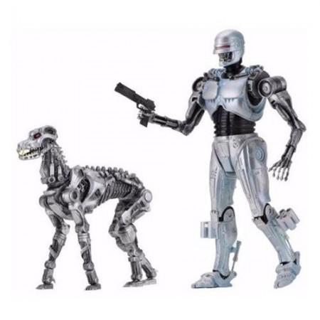 NECA RoboCop vs. Terminator Endocop and Terminator Dog Action Figure 2-Pack