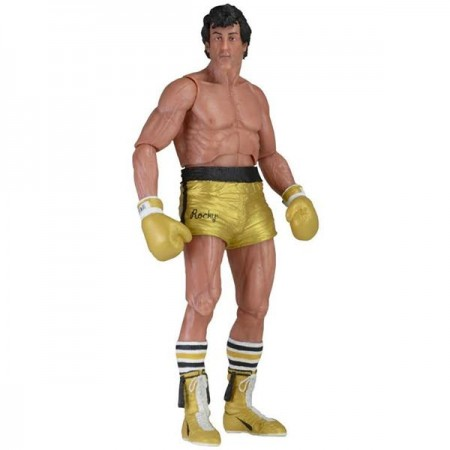 NECA Rocky 40th Anniversary Rocky In Gold Trunks