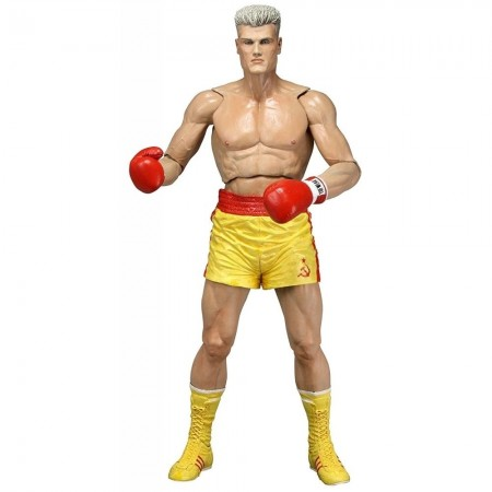 NECA Rocky 40th Anniversary Series 2 Ivan Drago Gold Trunks