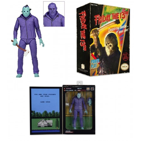 NECA Friday the 13th 7'' Scale Figure Classic Video Game Look & Music