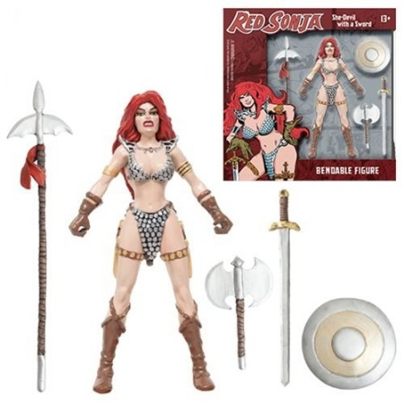 Figura de acción flexible de 5 1/2-pulgada de NJ Croce Red Sonja