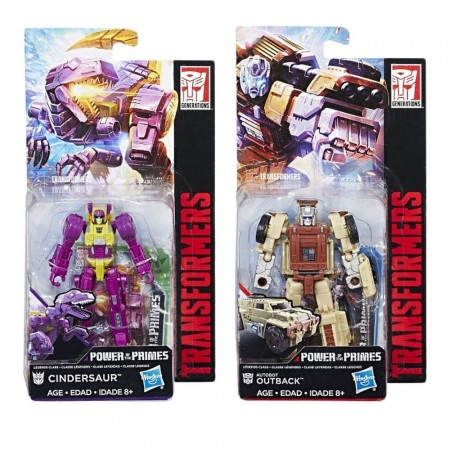 Transformers Power Of The Primes Legends Outback & Cindersaur Set Of 2