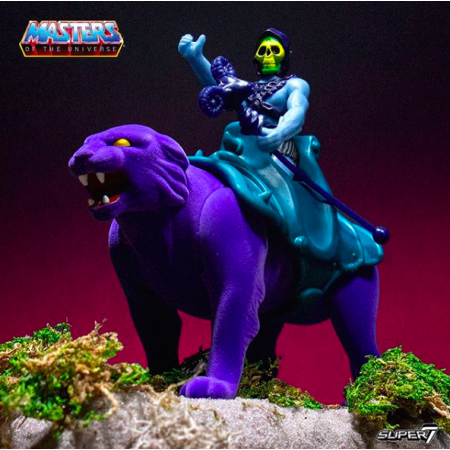 Super 7 ReAction Masters Of The Universe Skeletor & Panthor
