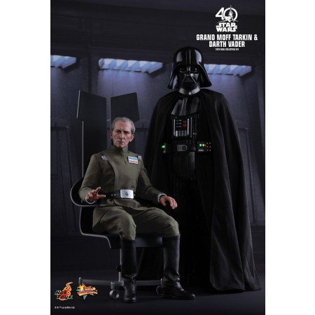 Hot Toys Star Wars: Episode Iv A New Hope Grand Moff Tarkin & Darth Vader 1/6th Scale Collectible Set