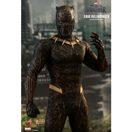 HOT TOYS BLACK PANTHER ERIK KILLMONGER 1/6TH SCALE COLLECTIBLE FIGURE