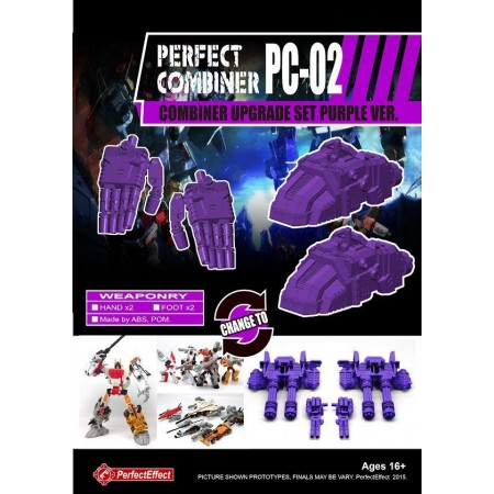 Perfect Effect PC-02 Combiner Upgrade Set Purple