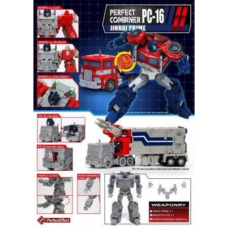 BRAND NEW - Perfect Effect PC-16 Jinrai Upgrade Kit & Figure