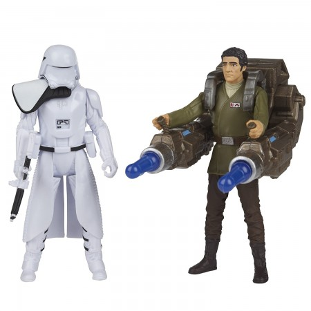 Star Wars The Force Awakens Poe Dameron and First Order Snowtrooper Deluxe 2 Pack