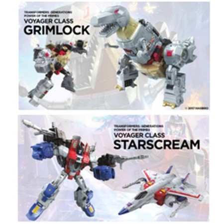 Transformers Power of the Primes Voyager Set of 2 Starscream & Grimlock