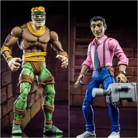 NECA Teenage Mutant Ninja Turtles Rat King and Vernon