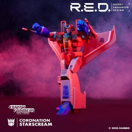 TRANSFORMERS R.E.D G1 ANIMATED STARSCREAM 6 INCH ACTION FIGURE