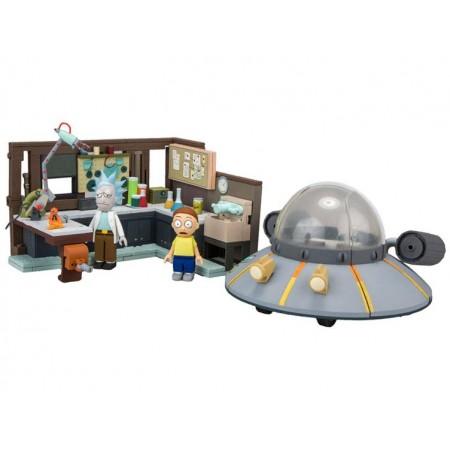 Rick and Morty Large Construction Set Garage & Flying Saucer