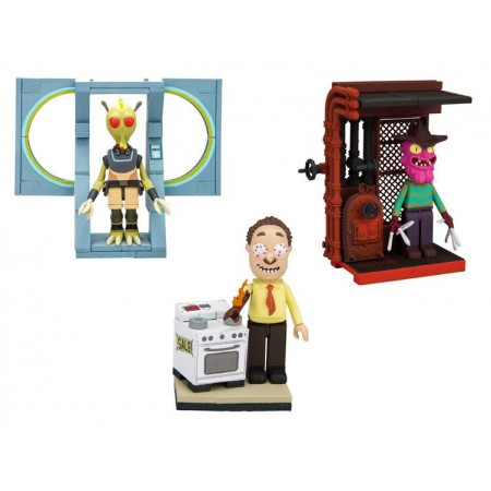 Rick and Morty Micro Construction Kits Set of 3