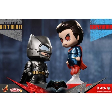 Hot Toys Armoured Batman Vs Superman Cosbaby 2 Pack