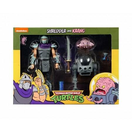 NECA TMNT Krang Vs Shredder 2 Pack