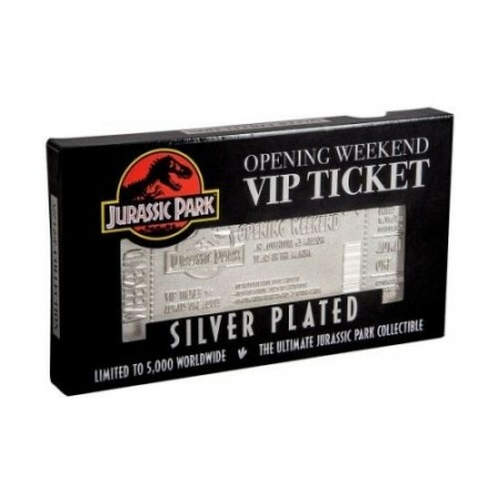 Jurassic Park Limited Edition .999 Silver Plated Opening Weekend VIP Ticket