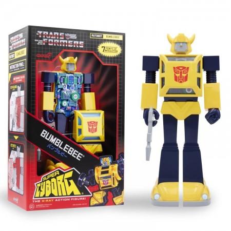 Super7 Transformers Super Cyborg Bumblebee Jumbo Figura de acción