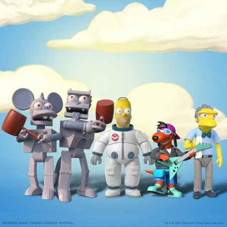Super7 The Simpsons Ultimates Wave 1 Set of 5