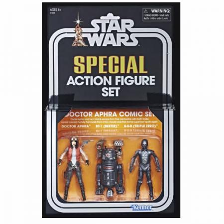 SDCC 2018 Star Wars Vintage Collection Dr Aphra, BT-01 & 000