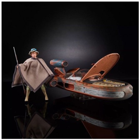 Star Wars SDCC Black Series Landspeeder & Luke Skywalker