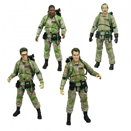 Diamond Select SDCC Exclusive Slimed Ghostbusters 4 Pack Limited to 1984 Pieces