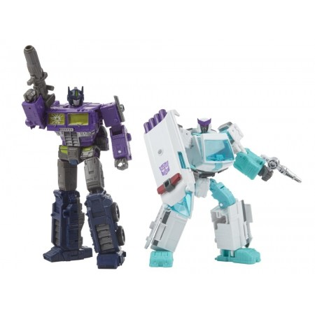 Transformers Generations Selects Shattered Glass Optimus Prime and Ratchet