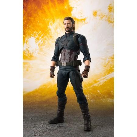 S.H Figuarts Avengers Infinity War Captain America & Tamashii Effect DLX Set