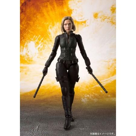 Vengadores infinito guerra S.H.Figuarts Black Widow y efecto impacto Tamashii