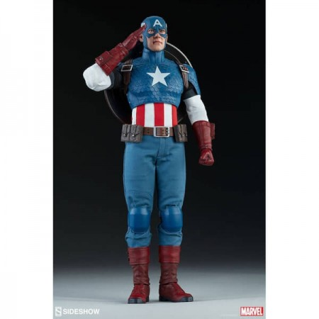 Sideshow Collectibles Marvel Comics Captain America 1/6th Scale Figure