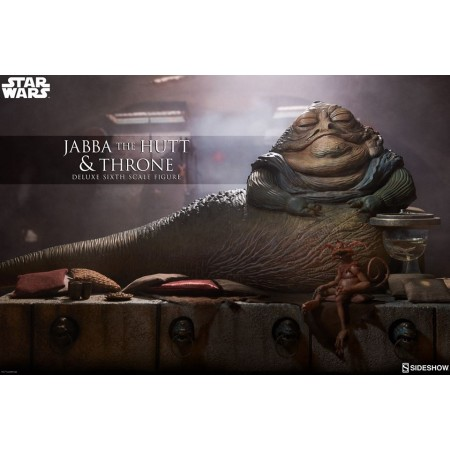 Sideshow Collectables Jabba The Hutt & Throne Deluxe 1/6 Scale Figure