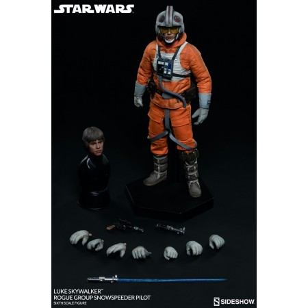 Sideshow Collectibles Star Wars Luke Skywalker pícaro grupo Snowspeeder piloto escala 1/6 figura