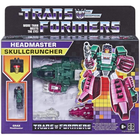 Transformers Retro Headmaster Skullcruncher and Grax