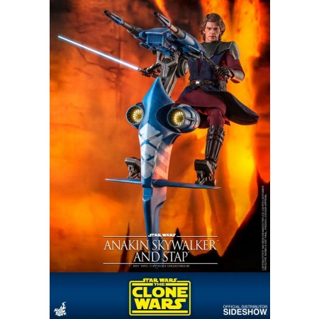 Hot Toys Anakin Skywalker and Stap Clone Wars 1/6 Scale Action Figure