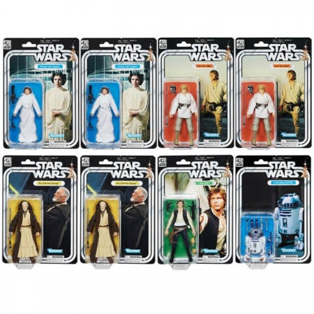 BRAND NEW - Star Wars 40th Anniversary Black Series Case of 8
