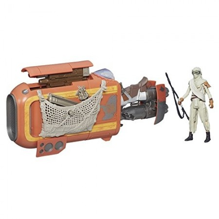 Star Wars The Force Awakens Rey's Speeder & Rey Action Figure