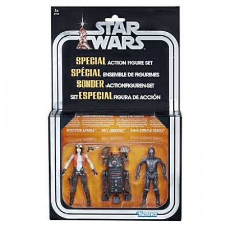 SDCC 2018 Star Wars Vintage Collection Dr Aphra, BT-01 & 000 NON MINT