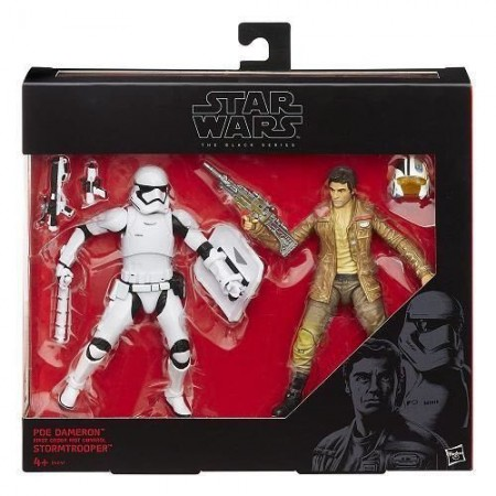 Star Wars The Force Awakens 2 Pack Poe Dameron & Riot Control Stormtrooper